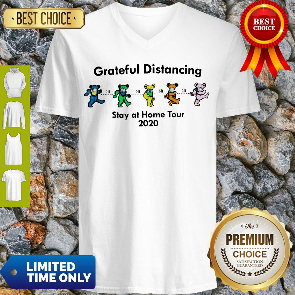 Awesome Grateful Distancing Stay At Home Tour 2020 V-neck
