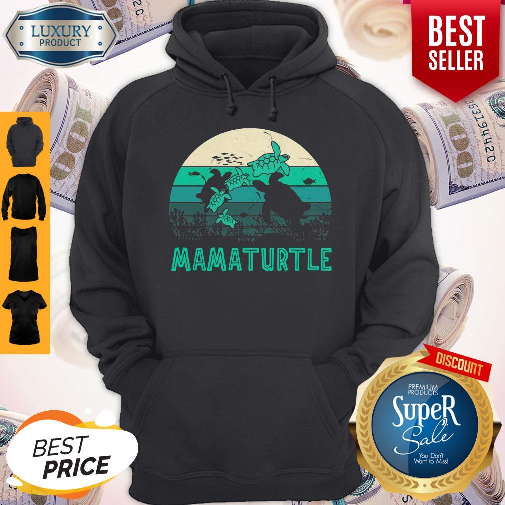 Awesome Mamaturtle Sea Turtle Vintage Version Hoodie