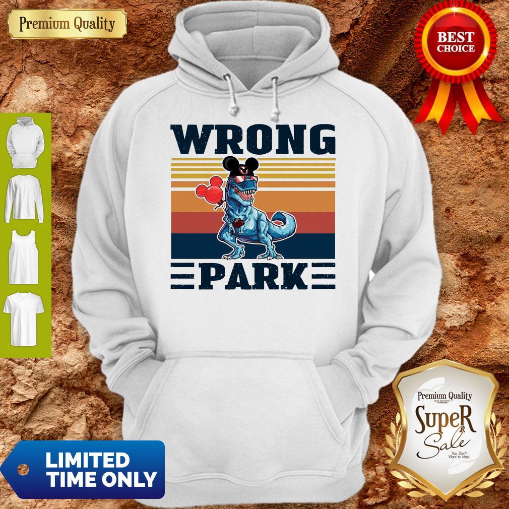 Funny Dinosaur T Rex Mickey Wrong Park Vintage Hoodie