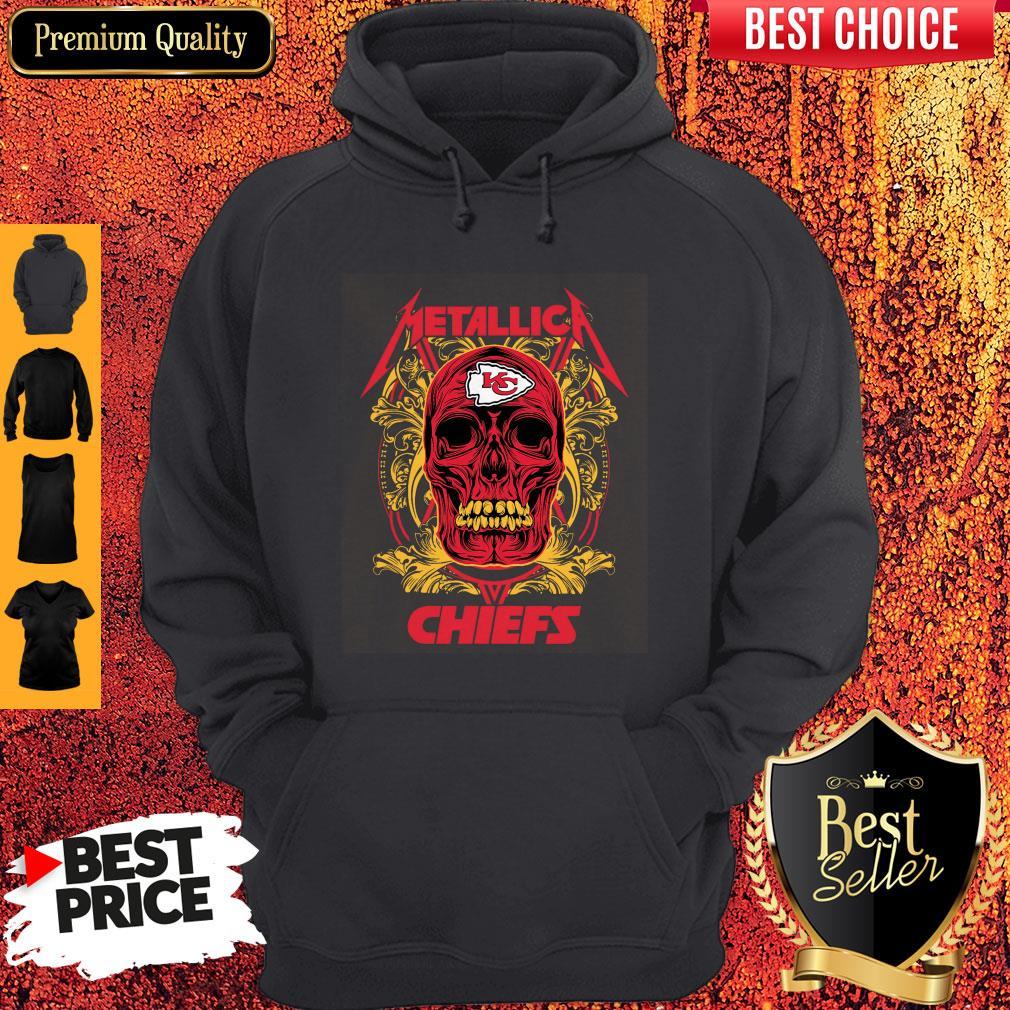 Nice Skull Metallica Kansas City Chiefs Hoodie