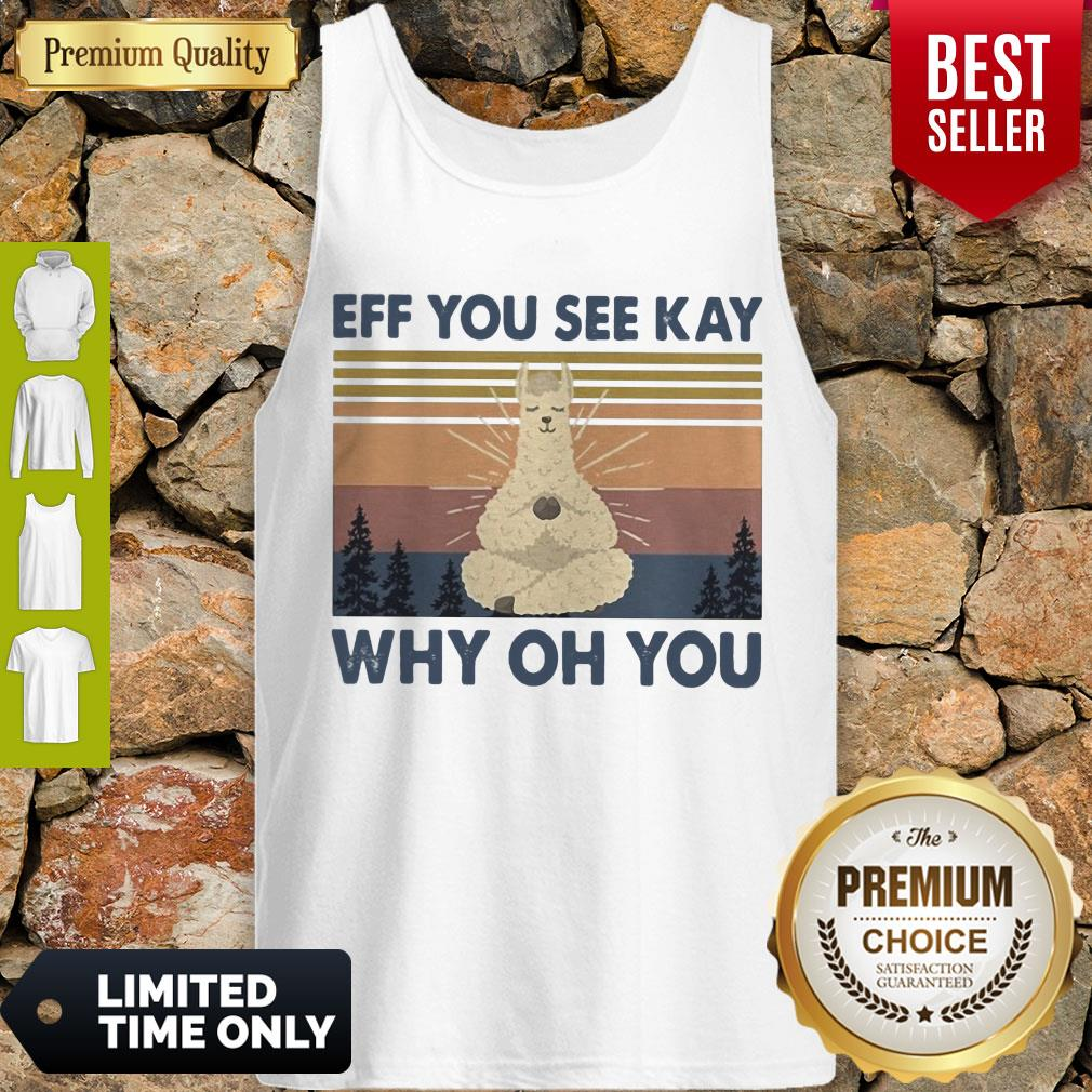 Top Sheep Yoga Eff You See Kay Why Oh You Vintage Tank Top