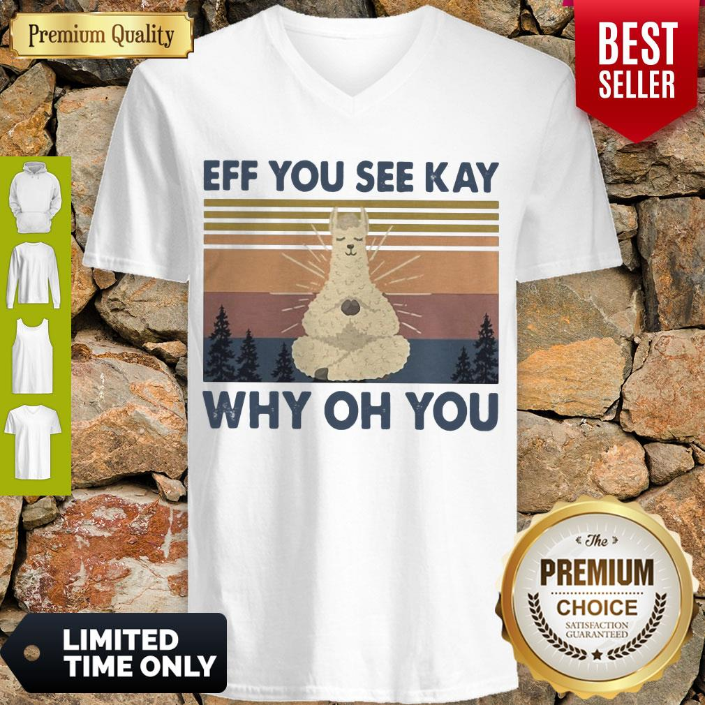 Top Sheep Yoga Eff You See Kay Why Oh You Vintage V-neck
