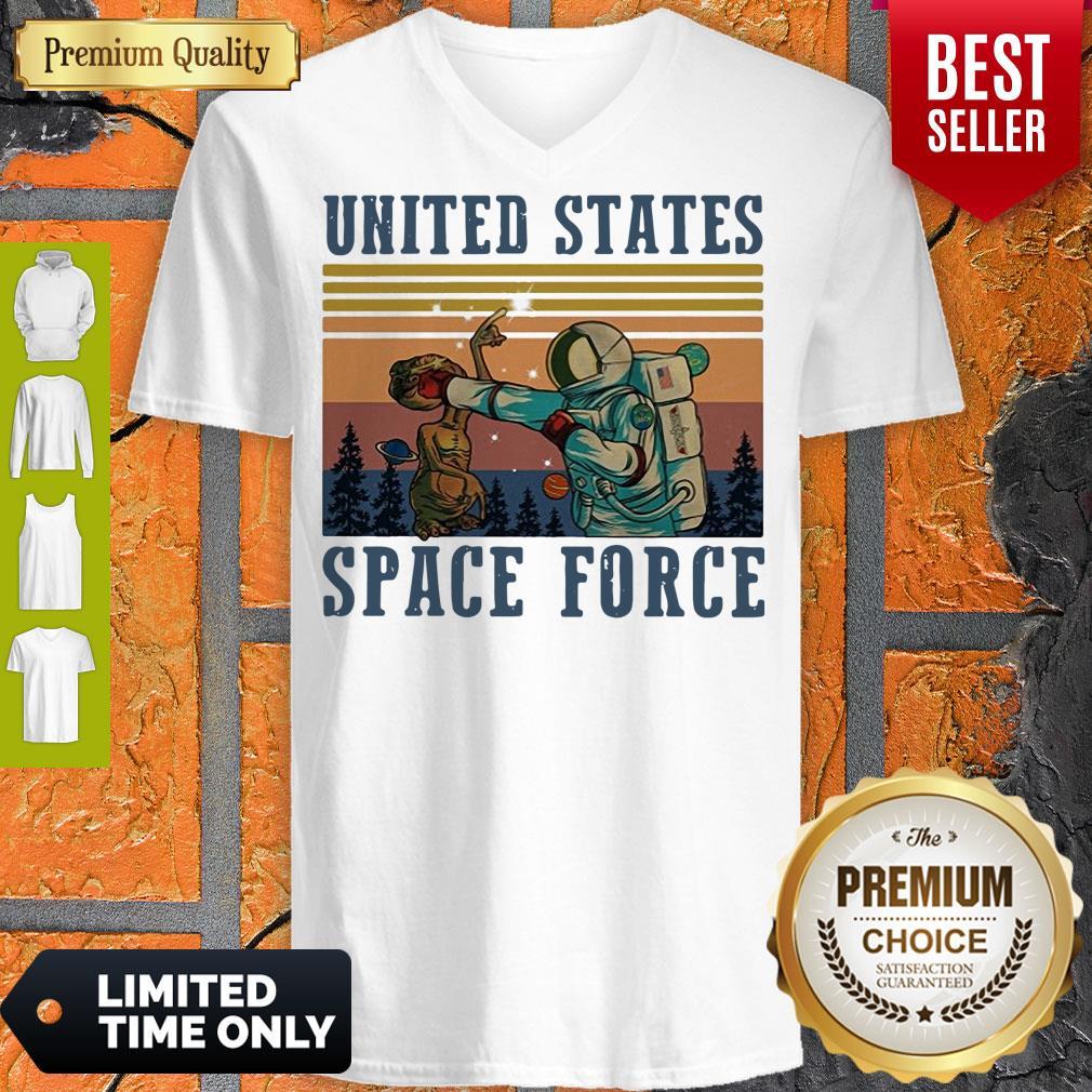Top United States Space Force Vintage V-neck
