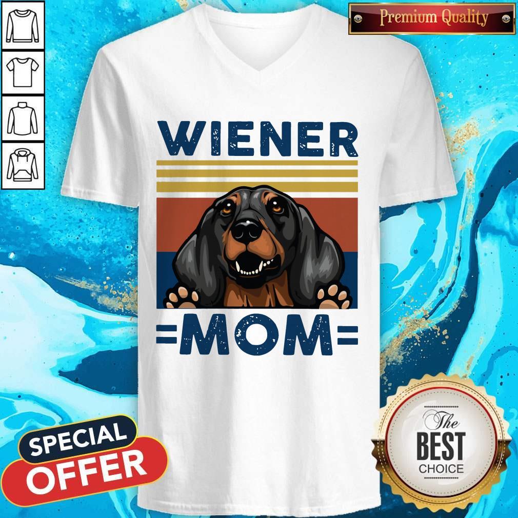 Dachshund Wiener Mom Vintage V- neck