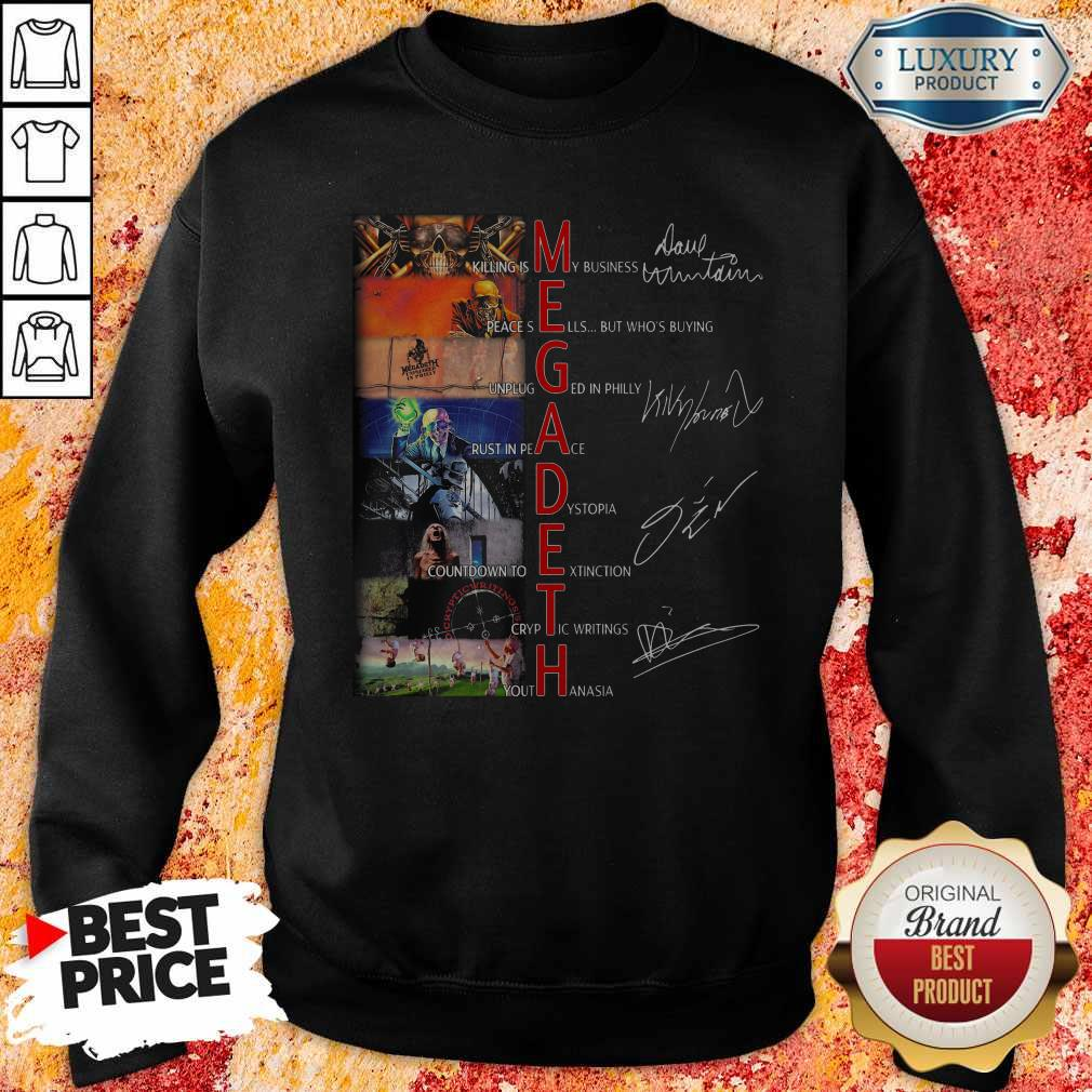 Megadeth Band Members Signatures Sweatshirt