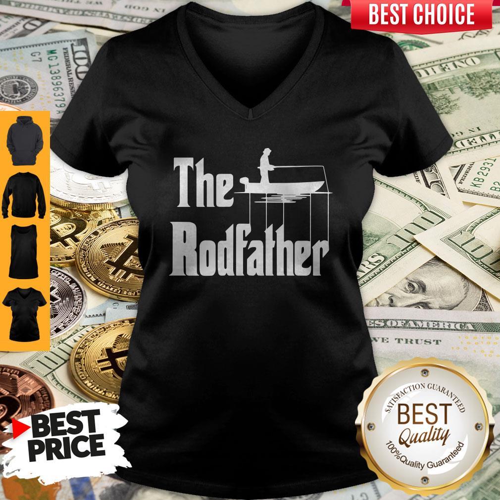 Nice Fishing The Rodfather The Godfather V-neck