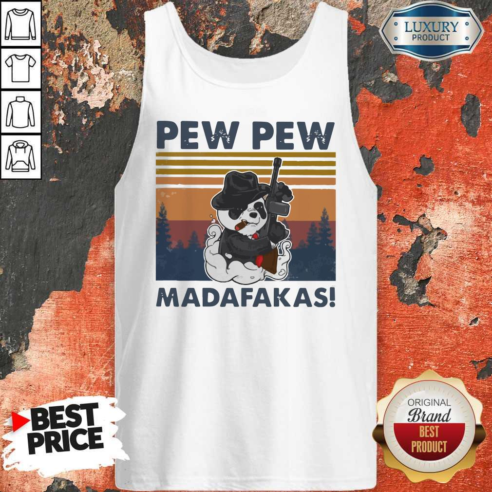 Panda Mafia Pew Pew Madafakas VintageTank Top