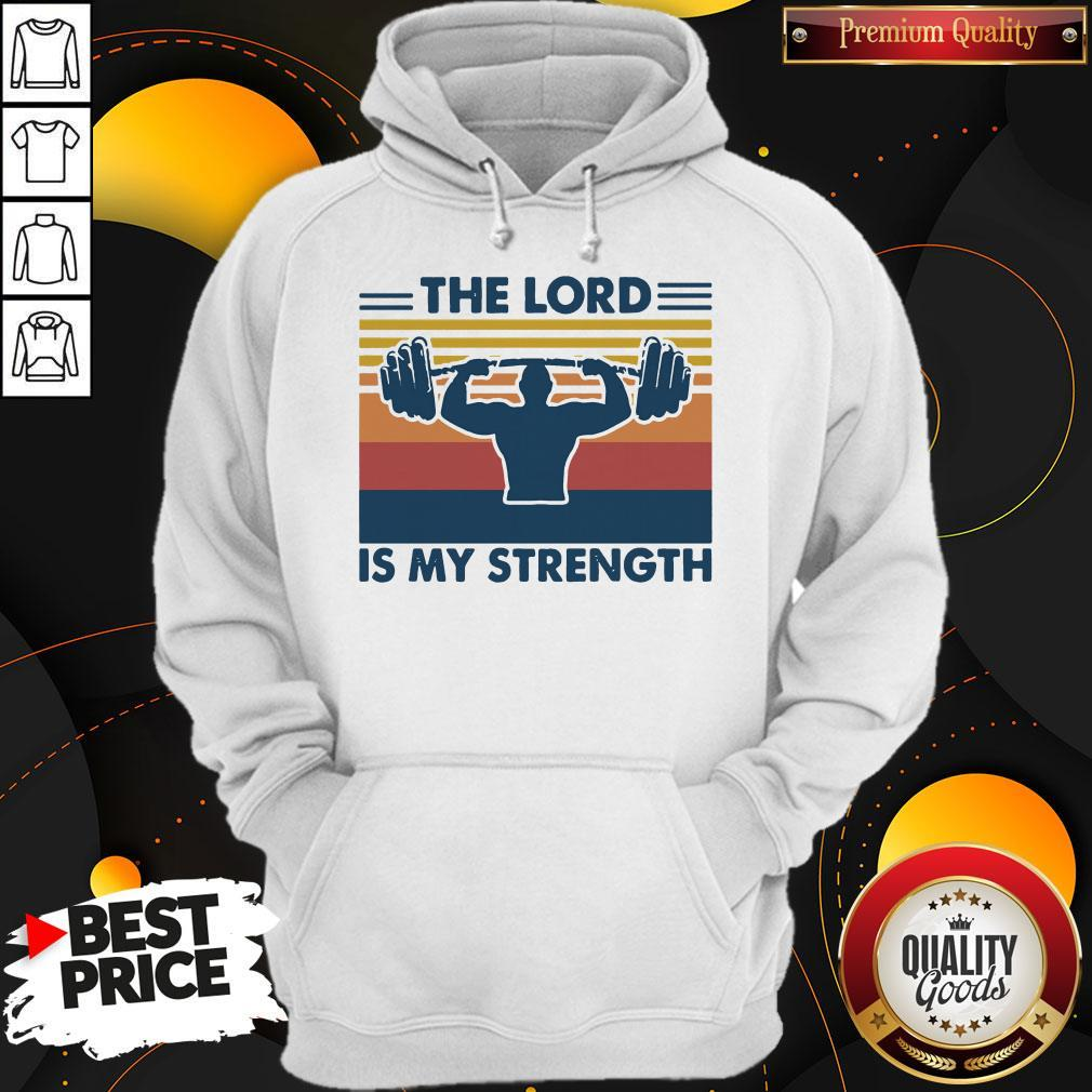 Weight Lifting The Lord Is My Strength Vintage Hoodiea