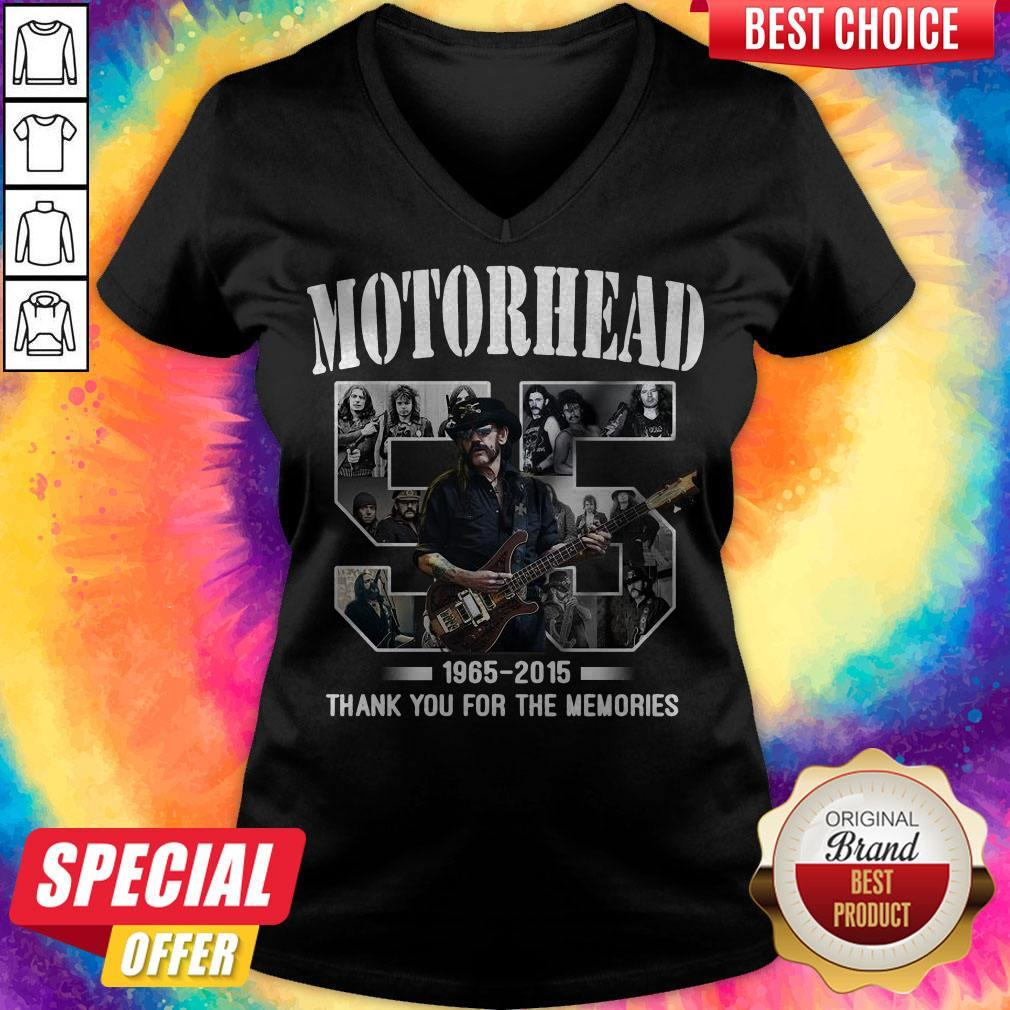 55 years of Motorhead 1965 2015 Thank You For The Memories V- neck