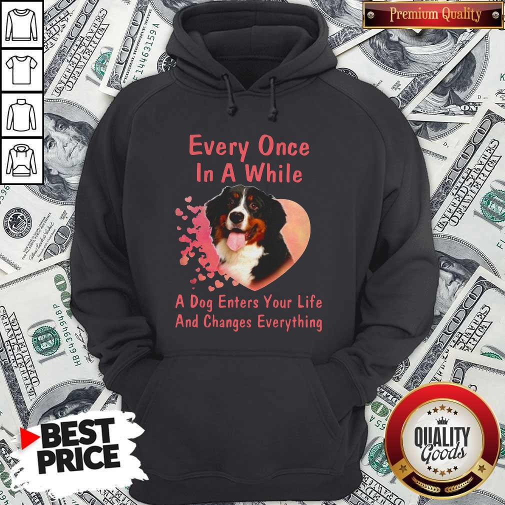 Bern Dog Every Once In A While A Dog Enters Your Life And Changes Hoodiea
