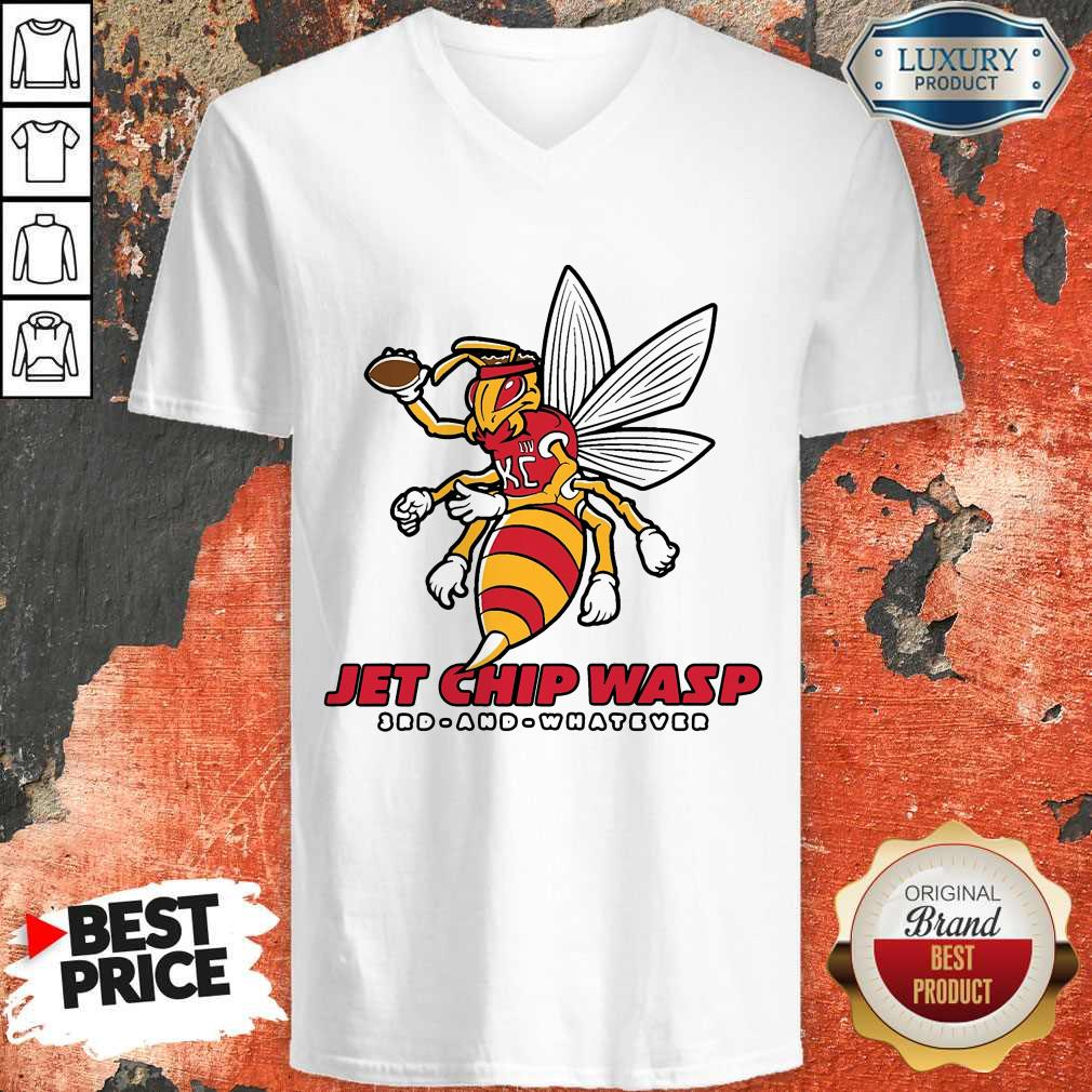 Jet Chip Wasp Kansas City Chiefs 3rd And Whatever V- neck