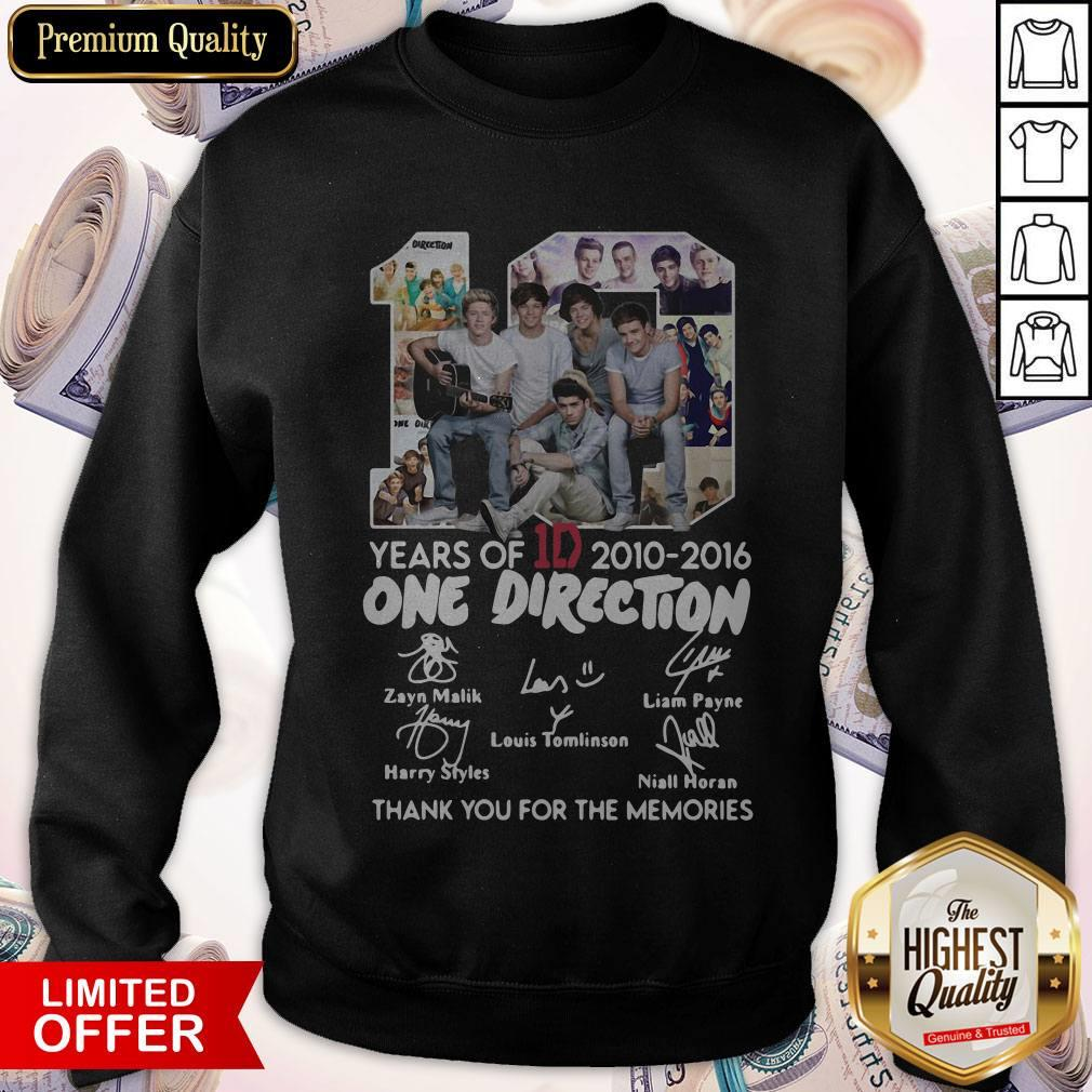 One Direction Thank You For Everything Signature weatshirt