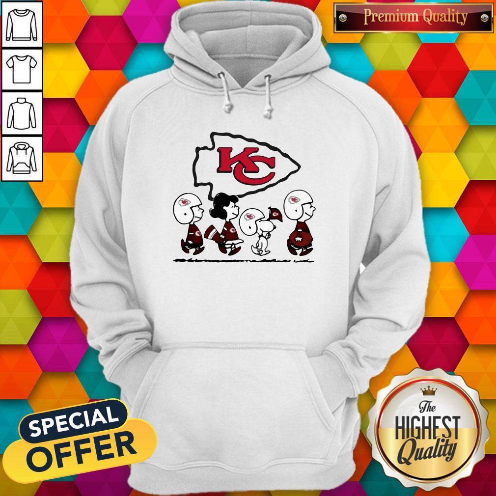 Peanuts Characters Kansas City Chiefs Hoodiea