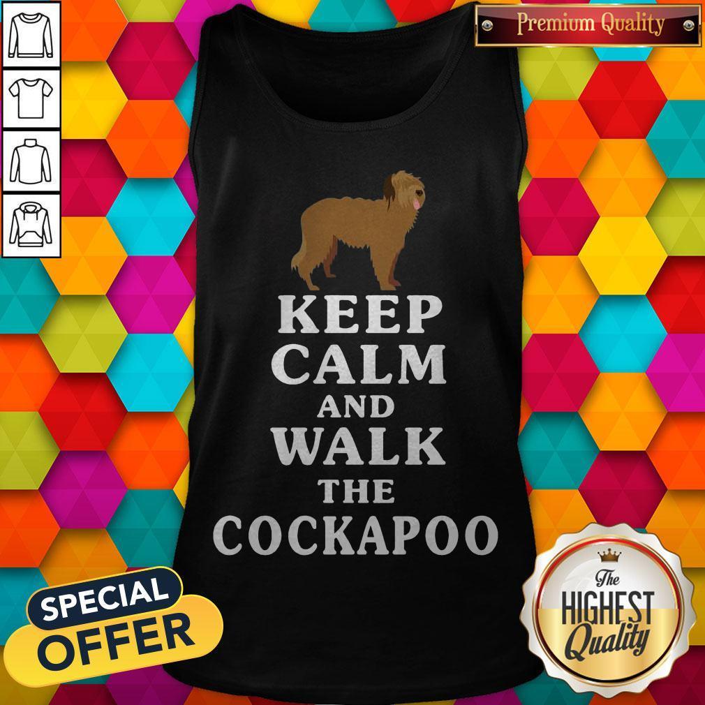 Premium Keep Calm And Walk The Cockapoo Tank Top