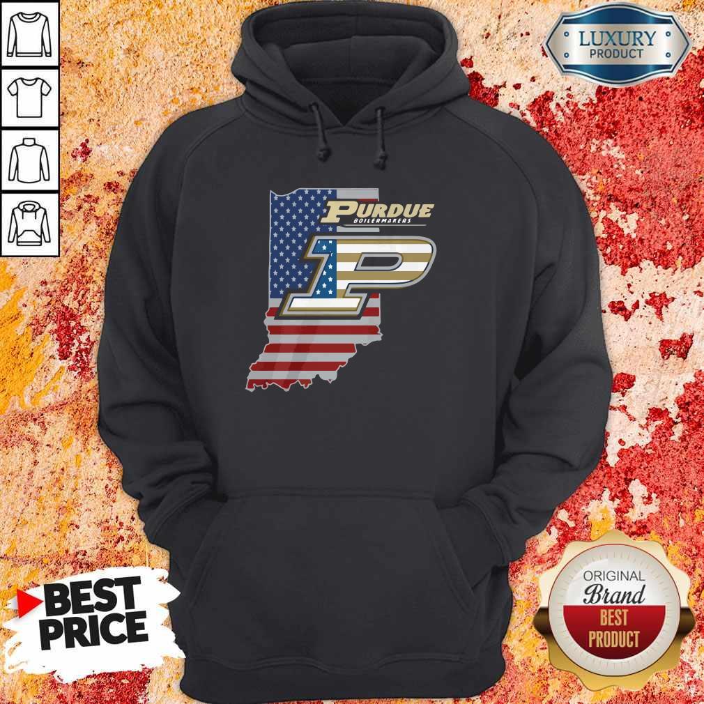 Purdue Boilermakers American Flag Hoodiea
