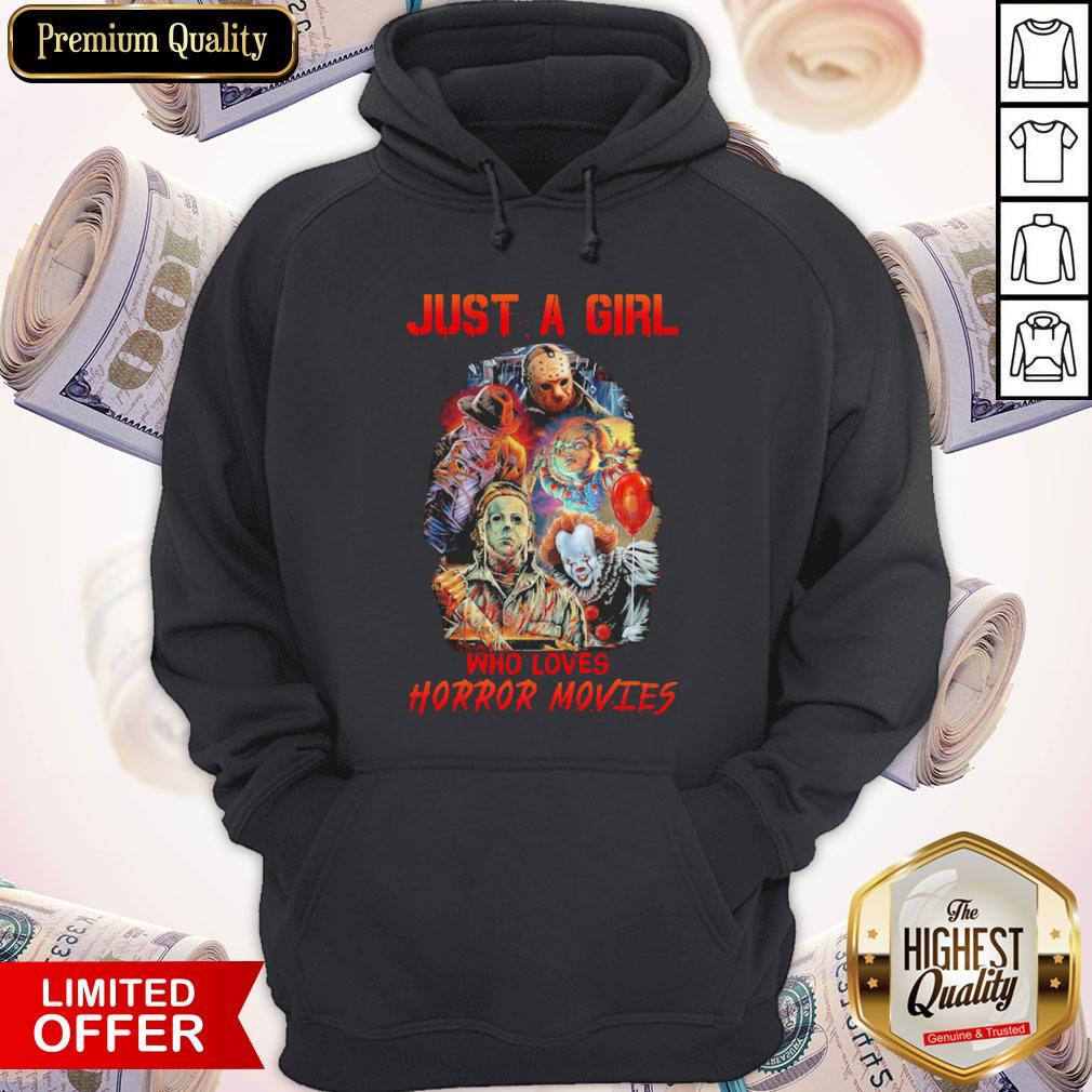 Top Just A Girl Who Loves Horror Movies Hoodie