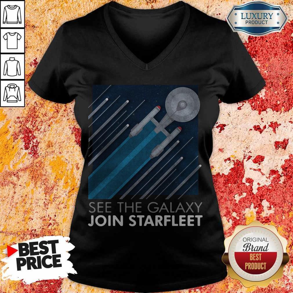 Top Star Trek See The Galaxy Join Starfleet V- neck