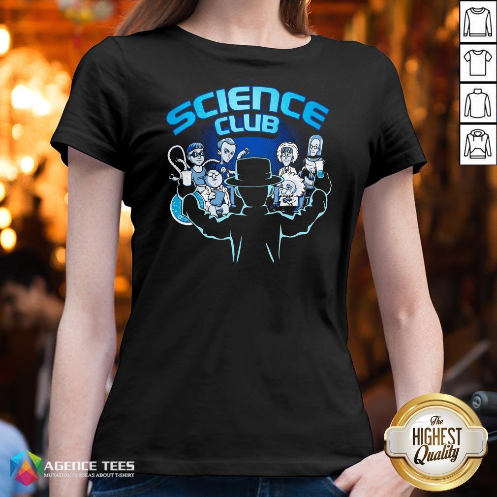 Happy Science Club V-neck Design By Agencet.com