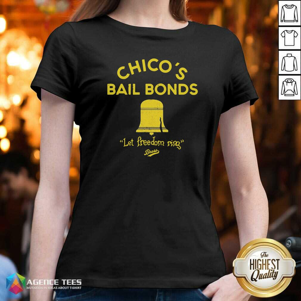 Awesome Chicos Bail Bonds Let Freedom Ring Bears V-neck - Design By Agencetees.com