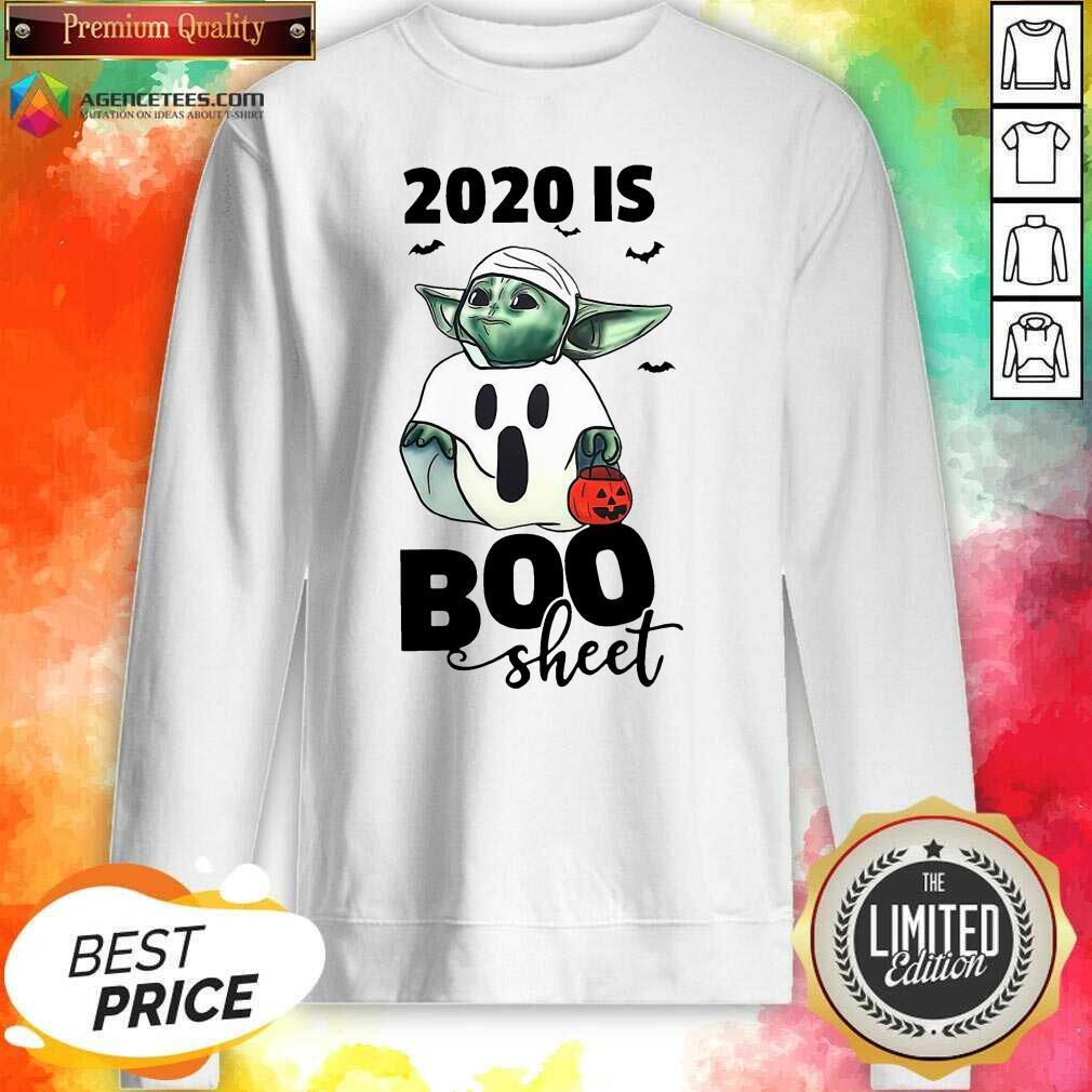 Premium Baby Yoda Ghost 2020 Is Boo Sheet Sweatshirt - Design By Agencetees.com