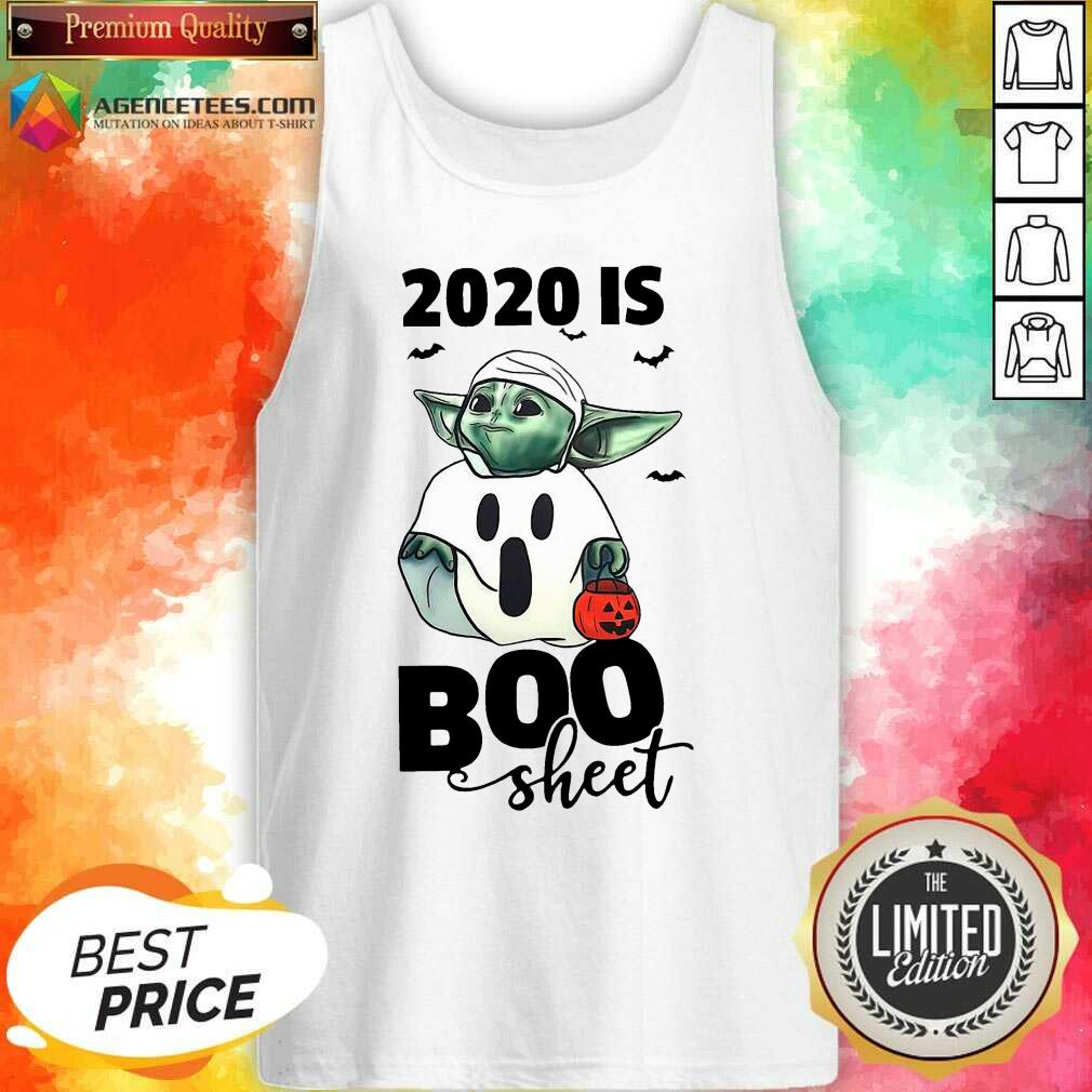 Premium Baby Yoda Ghost 2020 Is Boo Sheet Tank Top - Design By Agencetees.com