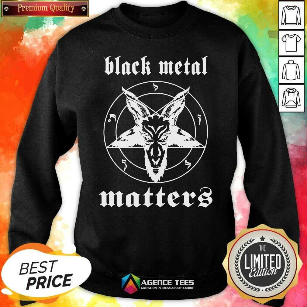 Premium Black Metal Matters Fox Star Sweatshirt - Design By Agencetees.com