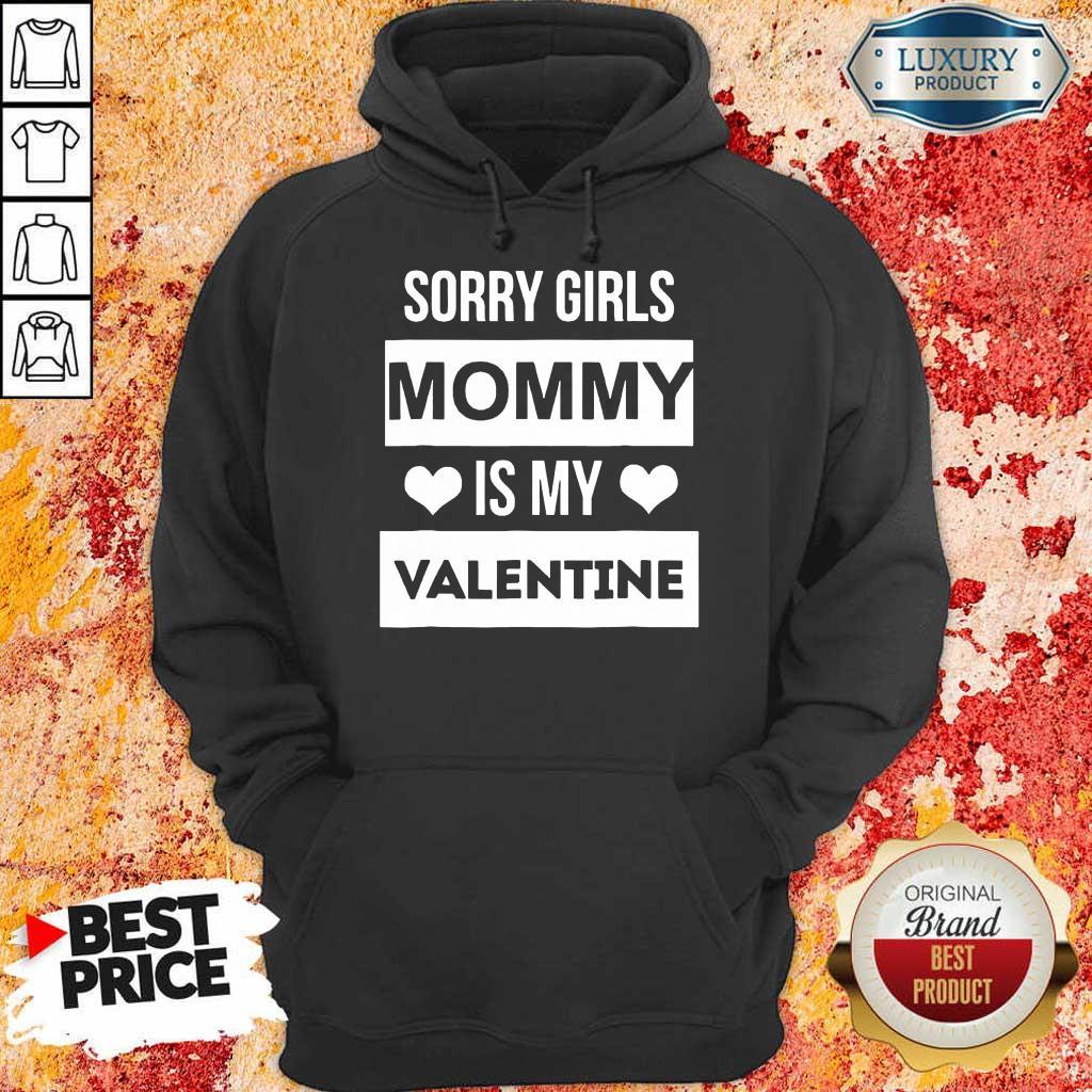 Amused Girls Mommy My Valentine 1 Hoodie