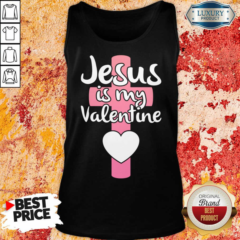 Annoyed Jesus Is My 1 Valentine Tank Top - Design by Agencetees.com