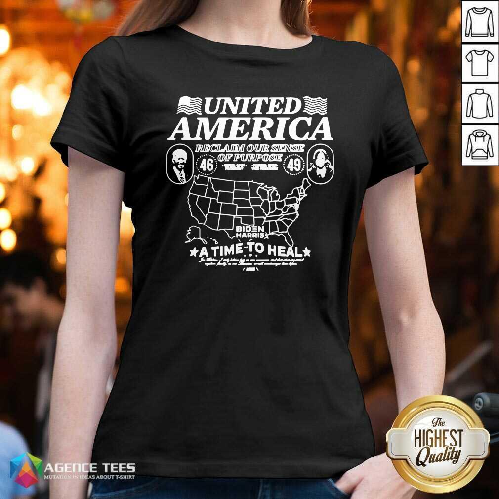 Original Biden Harris United America Reclaim Our Sense Of Pupose A Time To Heal V-neck