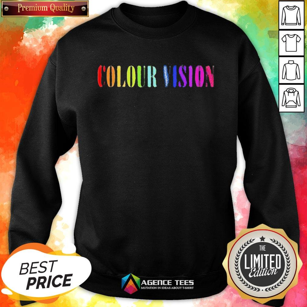 Perfect Colour Vision Embroidered Sweatshirt - Design By Agencetees.com