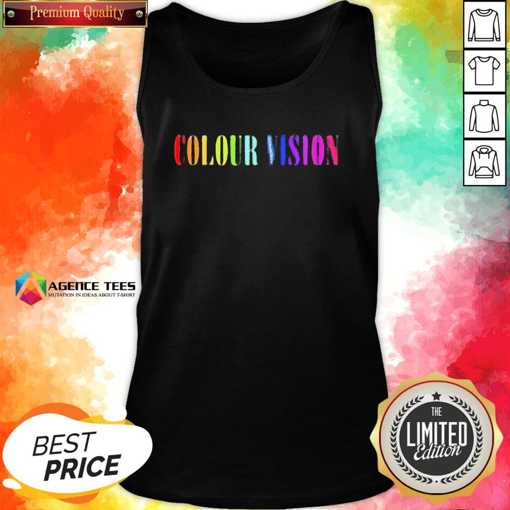 Perfect Colour Vision Embroidered Tank Top - Design By Agencetees.com