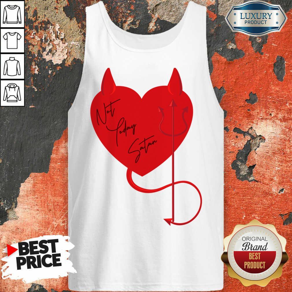 Surprised Satan Heart 4 Valentine Tank Top - Design by Agencetees.com