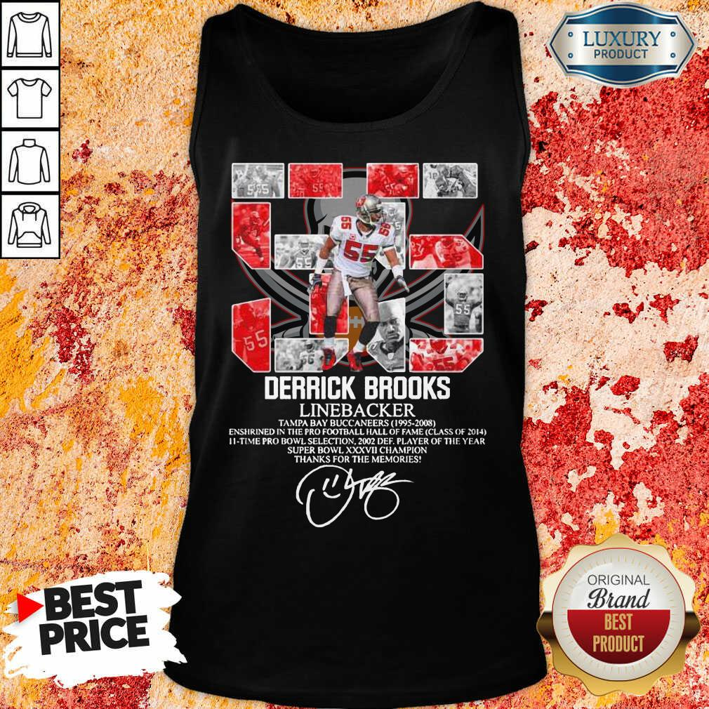 Worried 55 Derrick Brooks Linebacker 7 Thanks For The Memories Signature Tank Top - Design by Agencetees.com