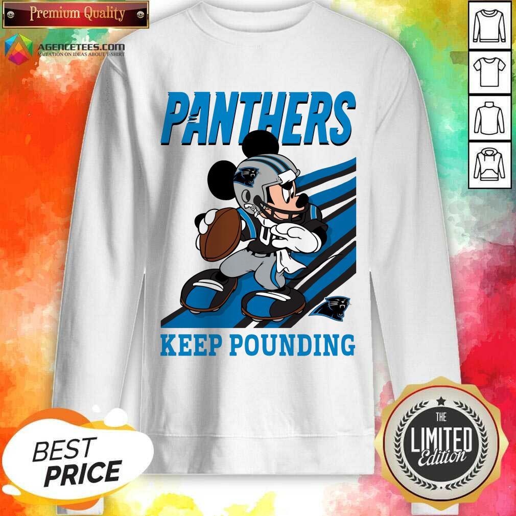 Hot Mickey Mouse Carolina Panthers Keep Pounding Sweatshirt