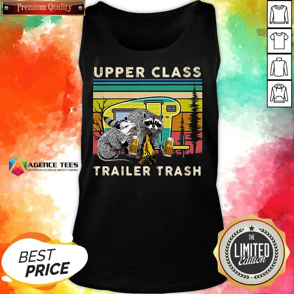 Hot Raccoons And Opossums Upper Class Trailer Trash Tank Top