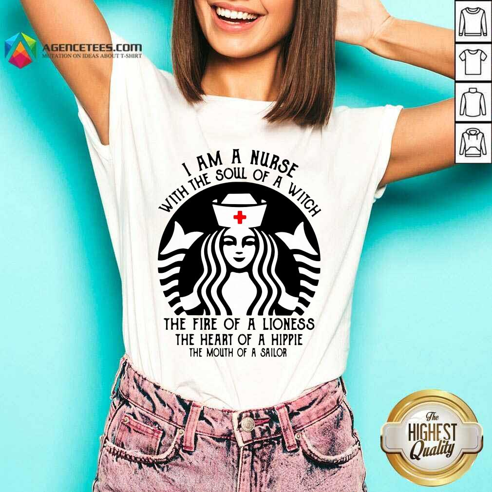Hot Starbuck Nurse I Am A Nurse With The Soul Of A Witch V-neck