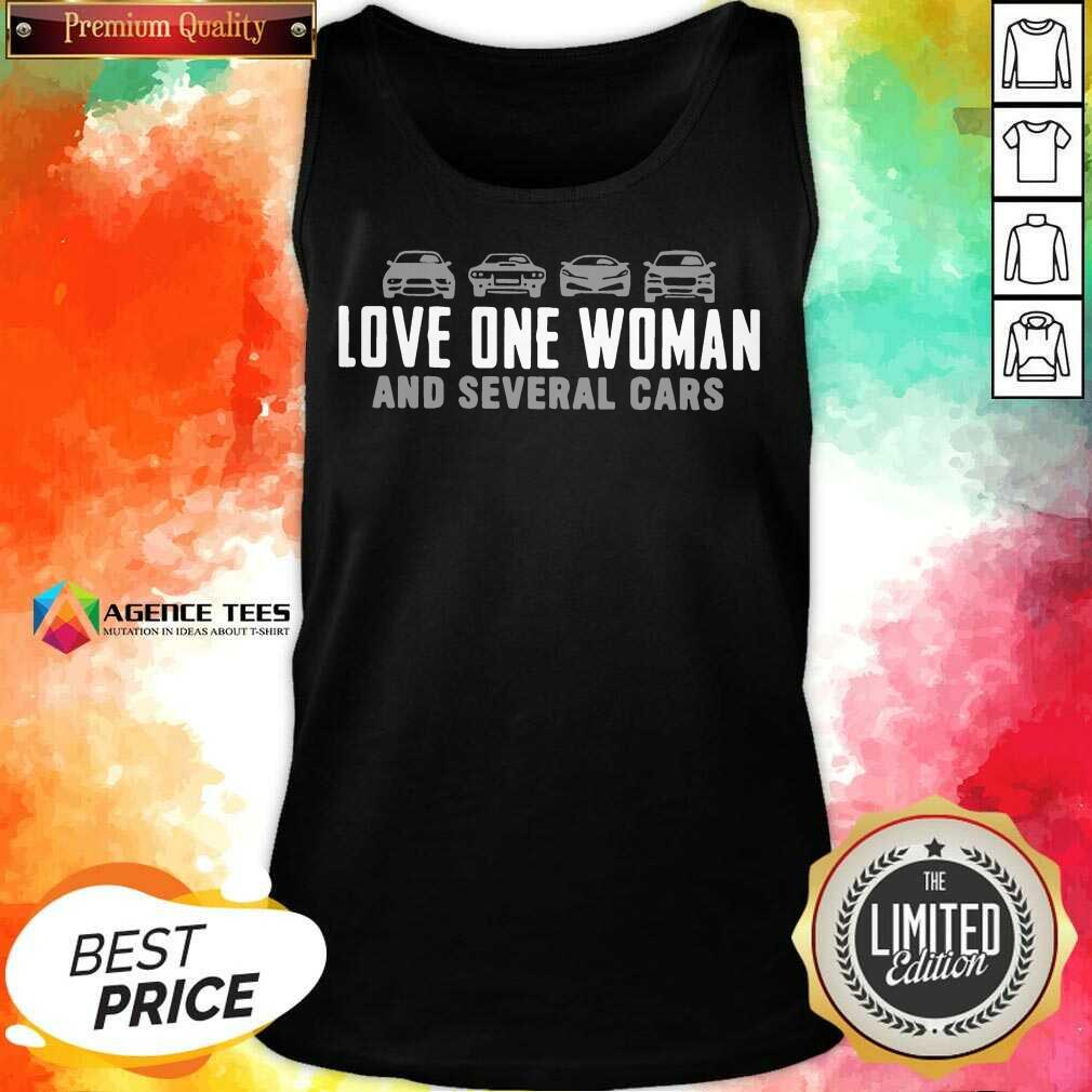 Love One Woman And 1 Several Cars Tank Top - Design by Agencetees.com