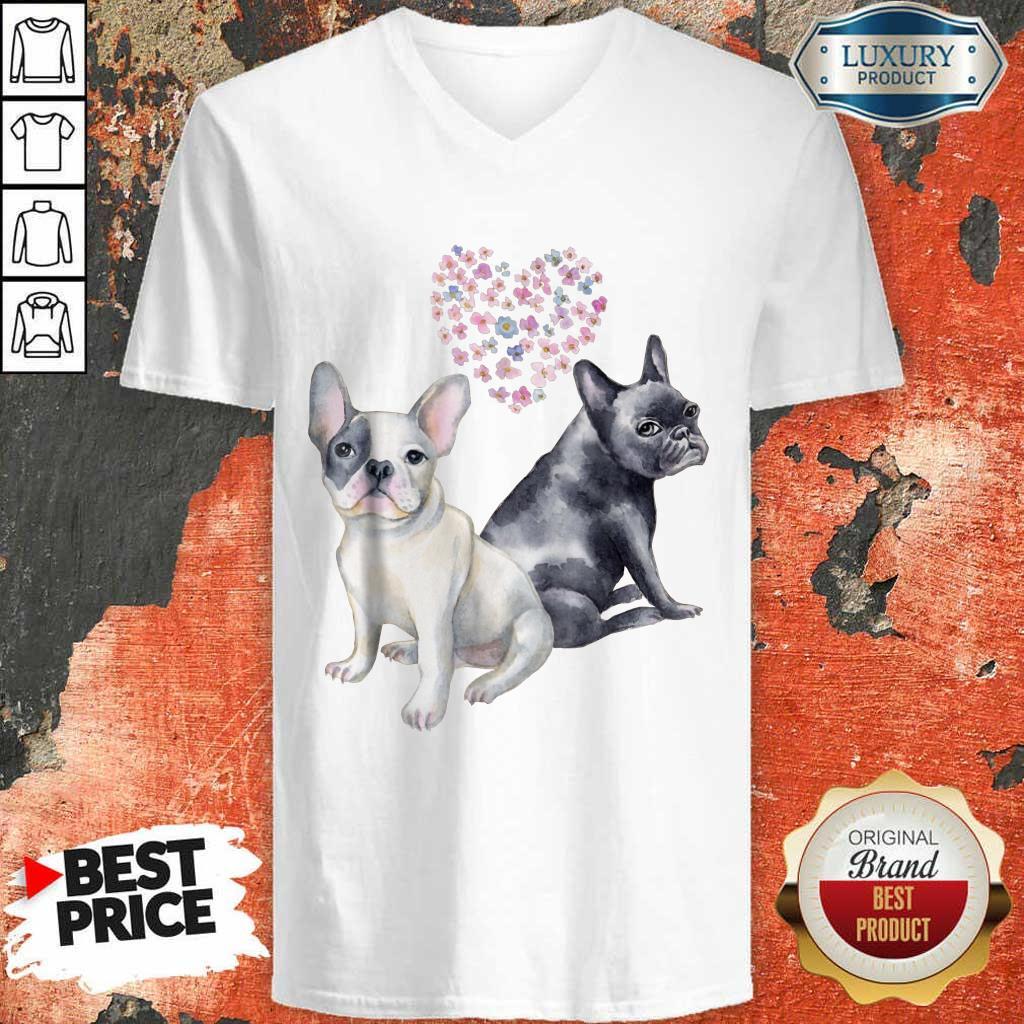 Excellent Flower Lovers French Bulldog V-neck
