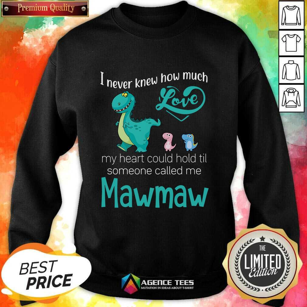Fantastic Saurus I Never Knew How Much Love Mawmaw Dinosaurs Sweatshirt