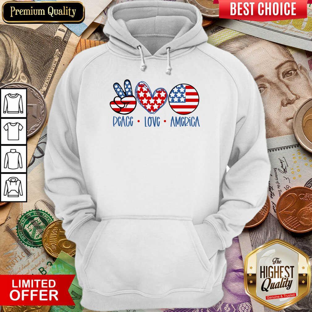 Good Peace Love America Hoodie