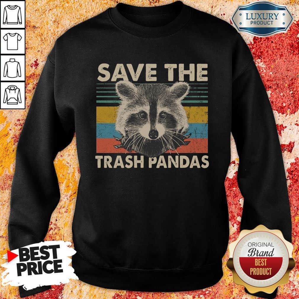 Premium Save The Trash Pandas Sweatshirt