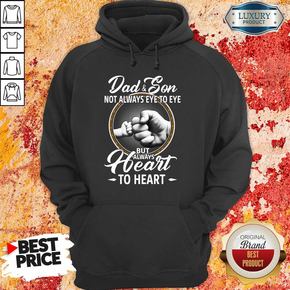 Dad And Son To Heart Hoodie