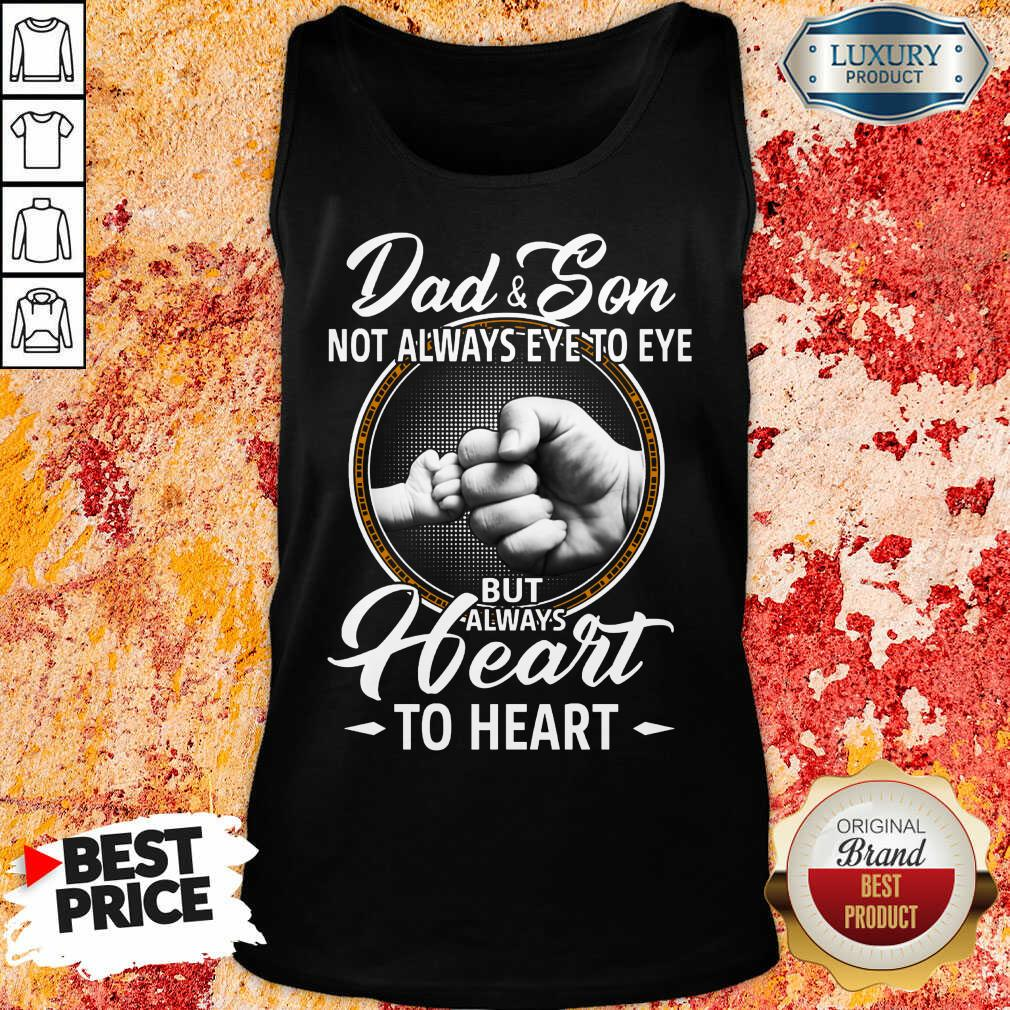 Dad And Son To Heart Tank Top