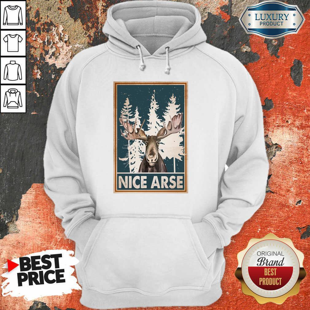 Moose Nice Arse Vertical Poster Hoodie