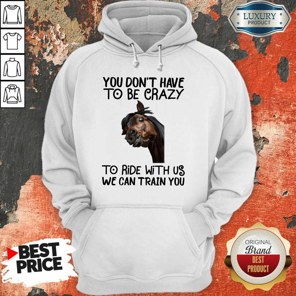 You Don't Have To Be Crazy We Can Train You Hoodie