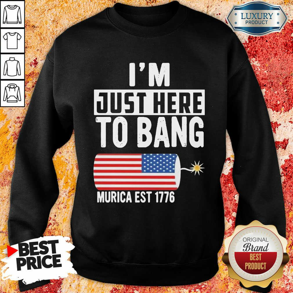American Just Here To Bang Murica 1776 Sweatshirt
