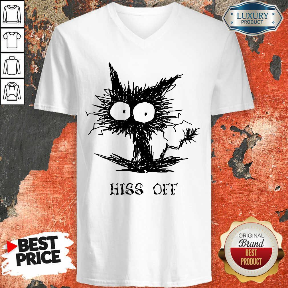Cat Hiss Off V-neck