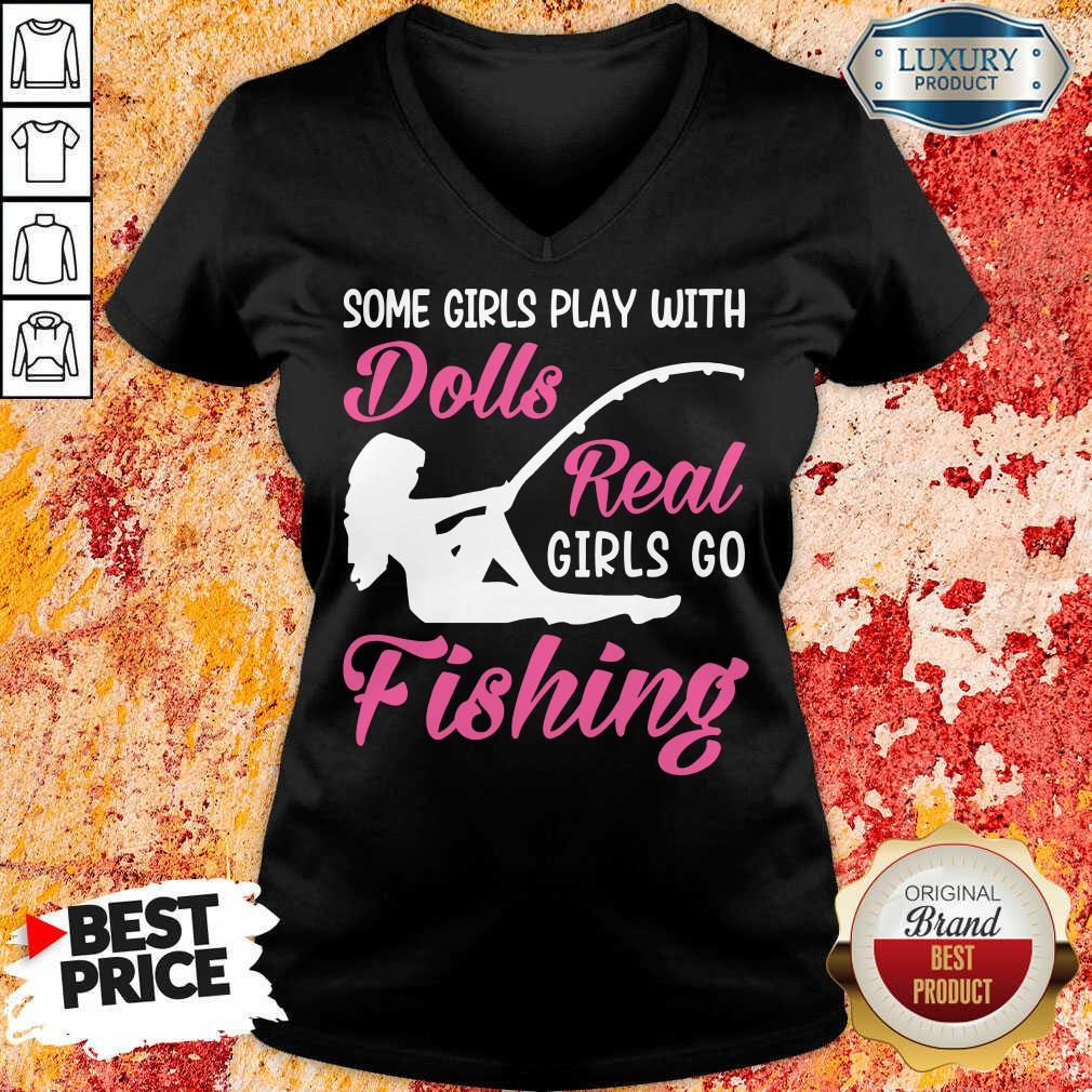 Dolls Real Girls Go Fishing V-neck