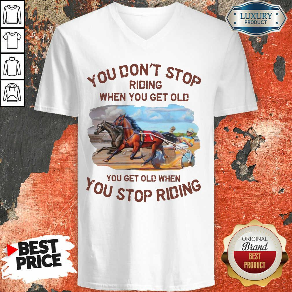 Harness Racing You Don'T Stop V-neck
