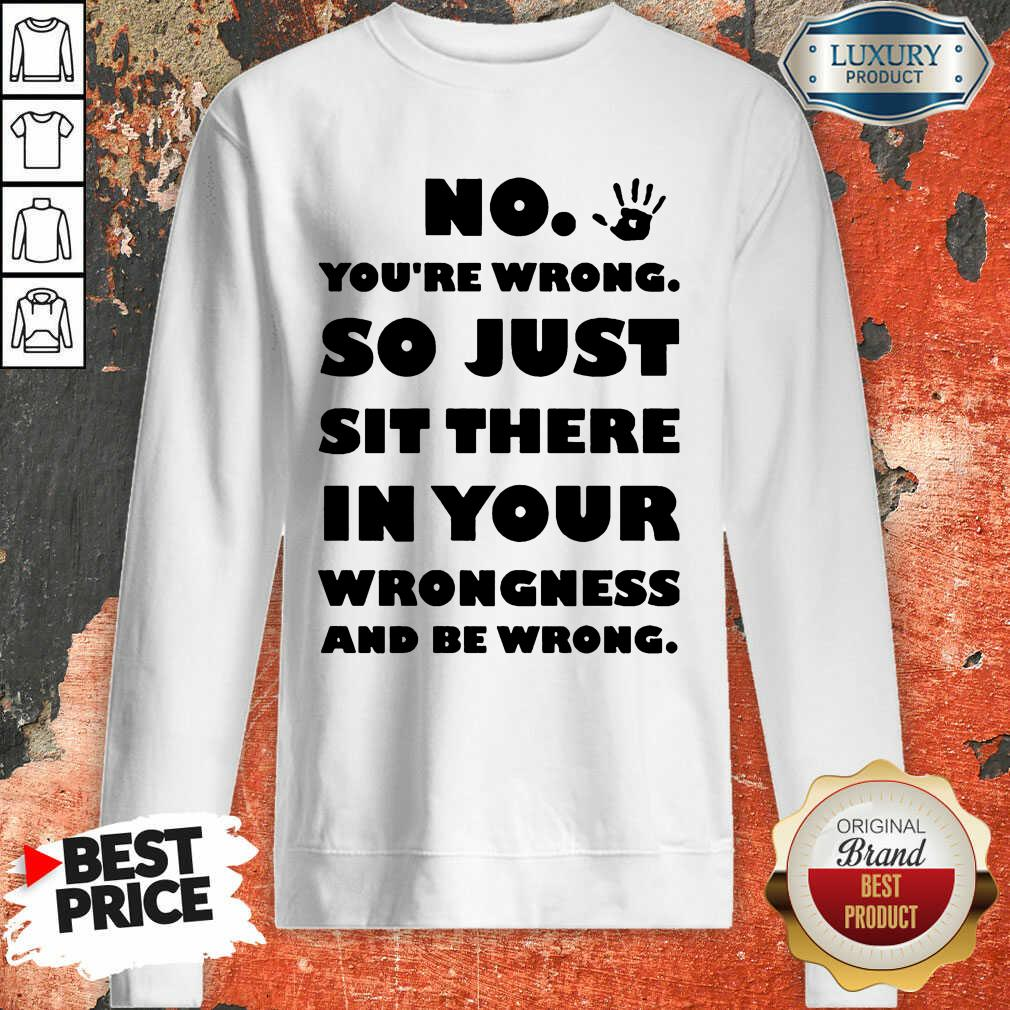 No You're Wrong So Just In Your Sweatshirt